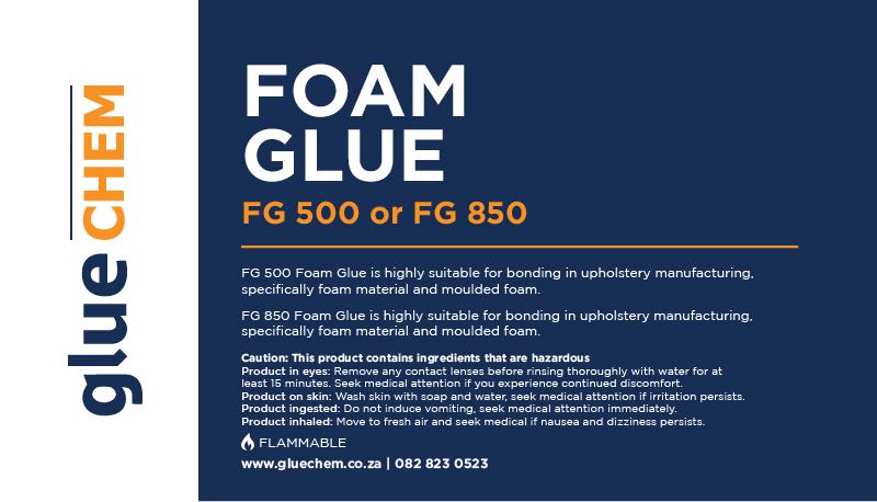 Gluechem Foam Glue FG500 and FG850 L